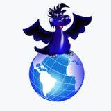 Dark blue dragon-New Year's a symbol of 2012 Royalty Free Stock Photo