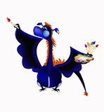Dark blue dragon-New Year's a symbol of 2012 Royalty Free Stock Photography