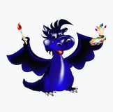 Dark blue dragon-New Year's a symbol of 2012. Dark blue dragon a symbol of new 2012 on east calendar Stock Images