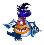 Dark blue dragon-New Year's a symbol of 2012 Royalty Free Stock Photos