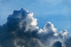 Dark blue dramatic sky Stock Images