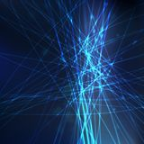 Dark blue electricity illustration Royalty Free Stock Photos