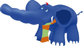 Dark blue elephant Stock Image