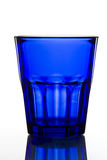 Dark blue empty glass Royalty Free Stock Photo
