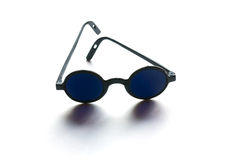 Dark blue eyeglasses Stock Photo