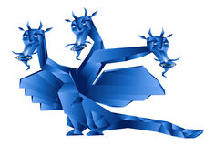 Dark blue fantastic dragon Stock Photos