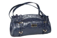 Dark blue female bag Stock Photo