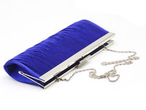 Dark blue female clutch  bag Stock Photography