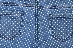 Dark blue female jeans - fabric structure Royalty Free Stock Photos