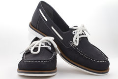 Dark blue female shoes Royalty Free Stock Images