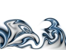 Dark blue flames. Illustration on the white; computer generated design element Stock Photography