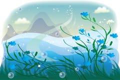 Dark blue flax Stock Image