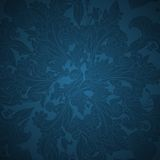 Dark blue floral ornament background Stock Image