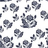 Dark blue floral seamless pattern Stock Image