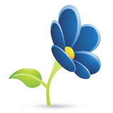 Dark Blue Flower Icon Royalty Free Stock Image