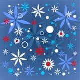 Dark blue flowers pattern Royalty Free Stock Images