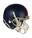 Dark Blue Football Helmet. Isolated over white background - With clipping path Stock Photos