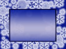 Dark blue frame. Computer generated illustration of dark blue frame with snowflakes Royalty Free Stock Photography