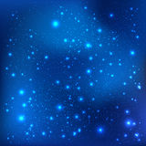 Dark blue galaxy background with light, stars. Vector Illustration. Xmas and New Year. Theme Stock Photo