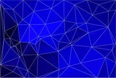 Dark blue geometric background with mesh. Royalty Free Stock Image