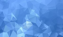 Dark blue geometric rumpled triangular low poly origami style gradient illustration graphic background. vector illustration