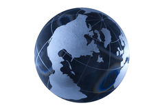 Dark blue glass globe Stock Photo