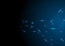 Dark blue glowing circuit board tech background Royalty Free Stock Photos
