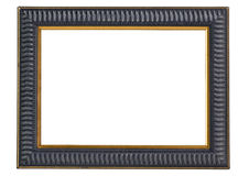 Dark blue and gold picture frame - clipping path Royalty Free Stock Images