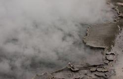 Dark Blue Green Steaming Geyser Pool Edge Detail Yellowstone National Park Royalty Free Stock Photo