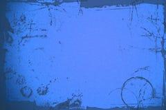 Dark blue grunge background. Dark blue background illustration with grunge ink markings and gradient glow Stock Photography