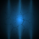 Dark blue grunge background with light Royalty Free Stock Photography