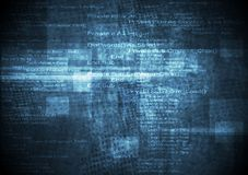Dark blue grunge technical background. Vector design Stock Images