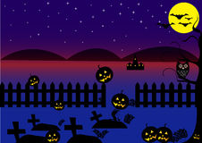 Dark Blue Halloween Background Royalty Free Stock Photo