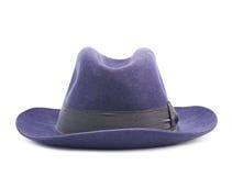 Dark blue hat isolated Stock Photos