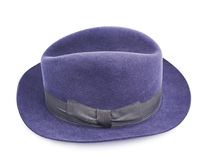 Dark blue hat isolated Royalty Free Stock Images