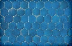 Dark Blue Hexagonal Blue Tiles Stock Photography