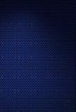 Dark blue hexagonal texture. Dark blue texture with hexagonal grating.  on black Stock Photo