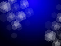 Dark Blue Hexagons Blur Bokeh Background Royalty Free Stock Photography