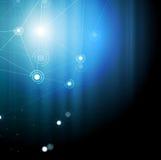 Dark blue hi-tech background Stock Photos