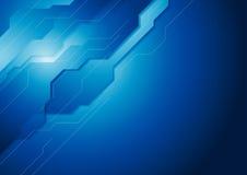 Dark blue hi-tech vector background Stock Image
