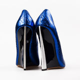 Dark blue high heels Stock Photo