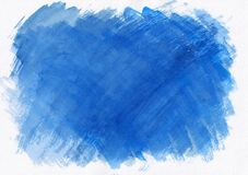Dark blue horizontal watercolor gradient hand drawn background. It`s useful for graphic design, backdrops, prints, wallpaper and. Etc stock illustration