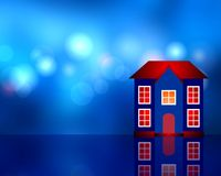 Dark blue house Royalty Free Stock Photo