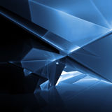 Dark blue illuminated polygonal structure, 3d Royalty Free Stock Photography