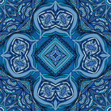 Dark Blue Indian Seamless Ornament Royalty Free Stock Photography