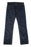 Dark blue jeans Royalty Free Stock Photos