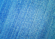 Dark blue jeans fabric Royalty Free Stock Photo