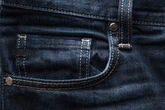 Dark blue jeans fabric background Stock Image