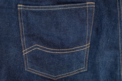 Dark blue jeans pocket Stock Photos