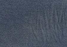Dark blue jeans texture. Royalty Free Stock Images